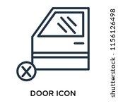 door icon vector isolated on... | Shutterstock .eps vector #1156126498