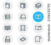 vector illustration of 12 book... | Shutterstock .eps vector #1156133755