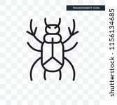 beetle vector icon isolated on... | Shutterstock .eps vector #1156134685
