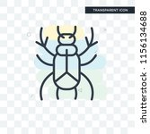 beetle vector icon isolated on... | Shutterstock .eps vector #1156134688