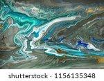 gold marbling texture design.... | Shutterstock . vector #1156135348