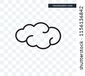 cloud vector icon isolated on... | Shutterstock .eps vector #1156136842