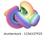 abstract rainbow shape. 3d... | Shutterstock . vector #1156137925