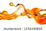 splash of orange juice. 3d... | Shutterstock . vector #1156140835
