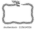 Snake Frame  Vector Design...