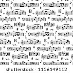 music notes on staves. vector... | Shutterstock .eps vector #1156149112