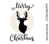 merry christmas greeting card ... | Shutterstock .eps vector #1156166995
