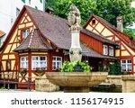 famous old town of meersburg in ... | Shutterstock . vector #1156174915