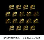 set of anniversary vector... | Shutterstock .eps vector #1156186435