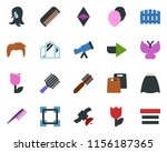 colored vector icon set   comb...   Shutterstock .eps vector #1156187365