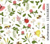 vector seamless pattern of wild ... | Shutterstock .eps vector #1156188235