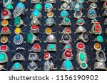 gold jewelry decorated with... | Shutterstock . vector #1156190902