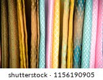 thai silk fabric folded for... | Shutterstock . vector #1156190905