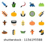 colored vector icon set   spike ... | Shutterstock .eps vector #1156195588