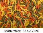 Italian colors pasta background - stock photo