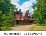 Small photo of Mark Twain House and Museum was the home of Mark Twain from 1874 to 1871 with American High Gothic style in downtown Hartford, Connecticut, USA.
