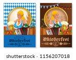 oktoberfest beer festival....   Shutterstock .eps vector #1156207018