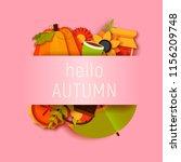 hello autumn greeting card... | Shutterstock .eps vector #1156209748