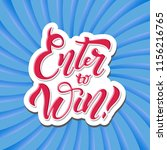 enter to win. win prize. vector ... | Shutterstock .eps vector #1156216765