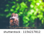 savings money concept growing... | Shutterstock . vector #1156217812