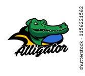 alligator crocodile logo vector | Shutterstock .eps vector #1156221562