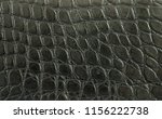 genuine black alligator leather ... | Shutterstock . vector #1156222738
