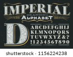 a classic serif capitals... | Shutterstock .eps vector #1156224238