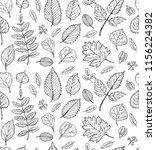 autumn pattern. fall leaves.   Shutterstock .eps vector #1156224382
