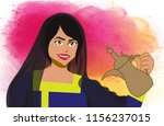 traditional emirate lady   Shutterstock .eps vector #1156237015