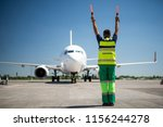 flight is over. back view of... | Shutterstock . vector #1156244278