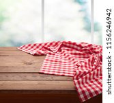 red checkered tablecloth on... | Shutterstock . vector #1156246942