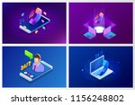 web page design templates for... | Shutterstock .eps vector #1156248802