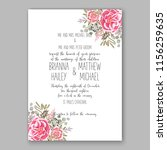wedding invitation floral... | Shutterstock .eps vector #1156259635