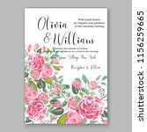 wedding invitation floral...   Shutterstock .eps vector #1156259665