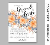 wedding invitation floral...   Shutterstock .eps vector #1156259722