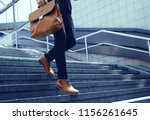 businessman with bag in his... | Shutterstock . vector #1156261645