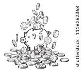 cartoon piggy bank among... | Shutterstock .eps vector #1156262368