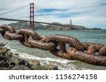 golden gate bridge with rusty... | Shutterstock . vector #1156274158