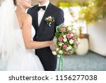 happy just married young couple | Shutterstock . vector #1156277038