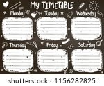 school timetable template on... | Shutterstock .eps vector #1156282825