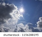 white summer clouds on blue sky | Shutterstock . vector #1156288195