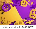folded paper art origami.... | Shutterstock . vector #1156305475