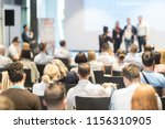 speakers receiving a prize for... | Shutterstock . vector #1156310905