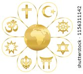 world religions united on a... | Shutterstock .eps vector #1156311142