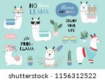 blue hand drawn cute card with... | Shutterstock .eps vector #1156312522