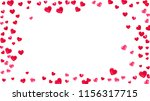heart frame background with... | Shutterstock .eps vector #1156317715