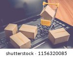 cardboard boxes or cartons and... | Shutterstock . vector #1156320085