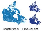 detailed vector map of canada | Shutterstock .eps vector #1156321525