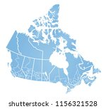 detailed vector map of canada | Shutterstock .eps vector #1156321528
