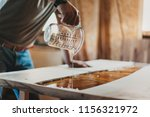 detail of skilled artisan... | Shutterstock . vector #1156321972
